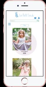Page catégorie sur mobile