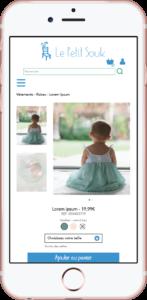 page produit mobile