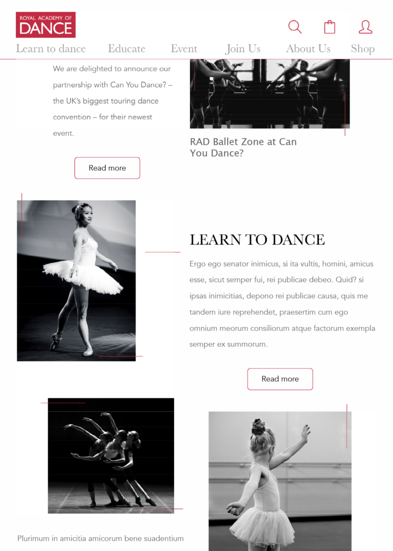 Homepage Royal Academy of Dance