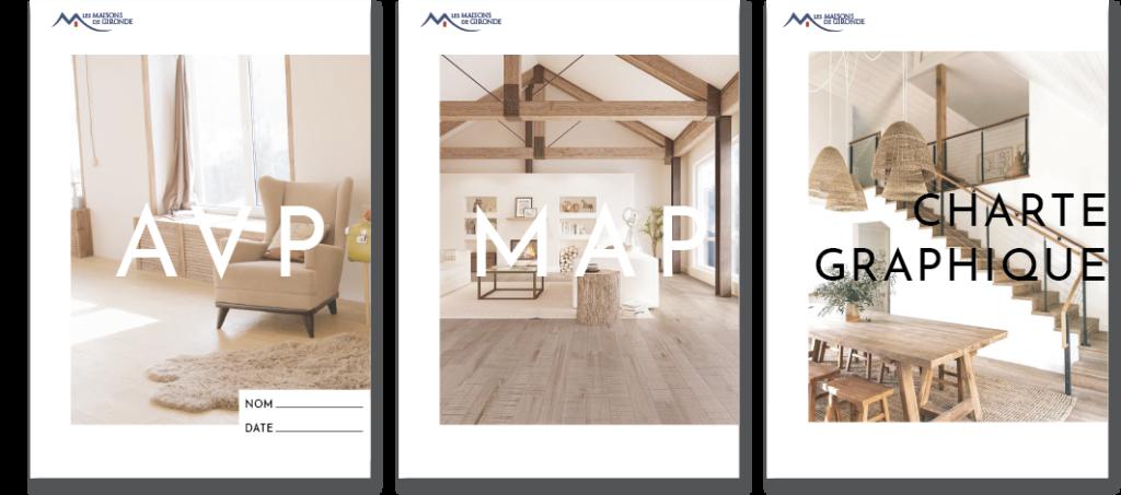 Couvertures documents commerciaux Maisons de Gironde